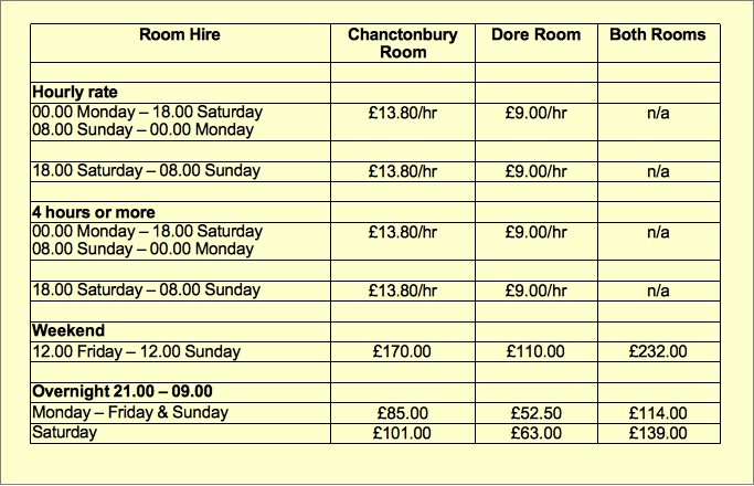 discounted hire charges 2019-20